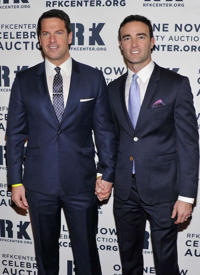 Thomas Roberts (L) and Patrick D. Abner attend the 2012 Ripple Of Hope Gala at The New York Marriott Marquis on December 3, 2012 in New York City.  (Photo by Stephen Lovekin/Getty Images) Photo: Stephen Lovekin, Getty Images / 2012 Getty Images