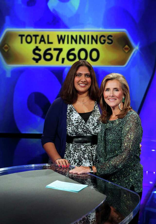 "Minal Shah on the set of ""Who Wants to be a Millionaire"" with host Meredith Vieira. Disney-ABC photo. Photo: Disney-ABC / ©2012 Disney ABC.  All rights reserved. NO ARCHIVING. NO RESALE."