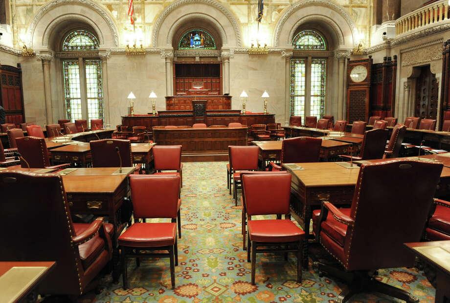 Interior of the Senate Chamber in the Capitol on Tuesday Dec. 4, 2012 in Albany, N.Y.  (Lori Van Buren / Times Union) Photo: Lori Van Buren