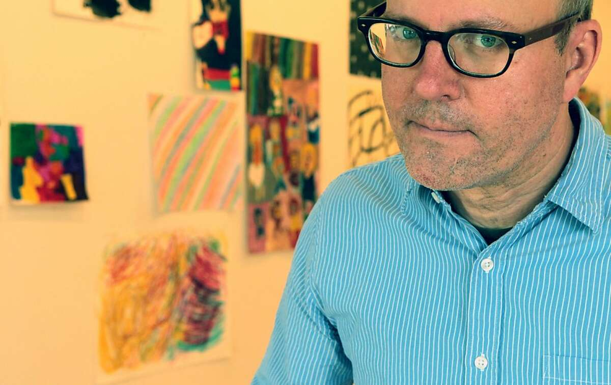 """Tim Buckwalter is the new gallery director at NIAD Art Center, which represents artists with disabilities. Buckwalter has opened a Pop Up Christmas store called """"Holiday Lounge"""" in the storefront of an old auto shop in Richmond. Tuesday Nov. 27, 2012."""