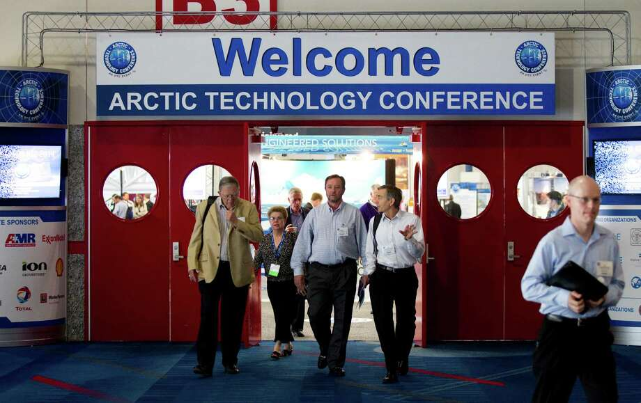 Delegates to the Arctic Technology Conference met at the George R. Brown Convention Center in December. Houston is a hub for conferences concerning the energy industry. Photo: Brett Coomer, Houston Chronicle / © 2012 Houston Chronicle