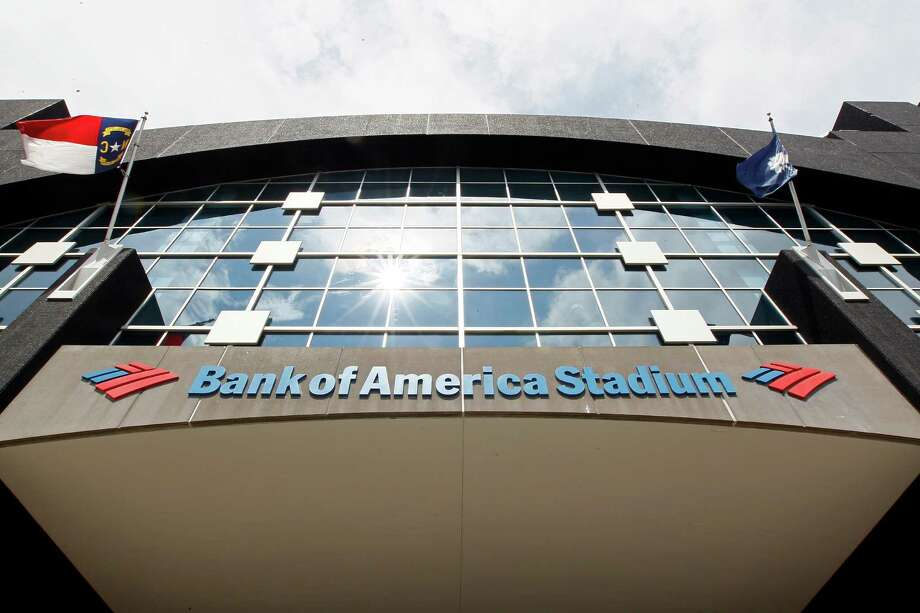 This, Saturday, Aug. 11, 2012, photo, shows the Bank of America Stadium prior to an NFL preseason football game. U.S. banks earned more from July through September than in any other quarter over the past six years. The increase is further evidence that the industry is strengthening four years after the 2008 financial crisis. (AP Photo/Gerry Broome) Photo: Gerry Broome