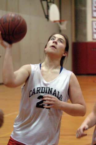 Greenwich High School girls basketball captain Rebecca Kural practices at the school in Greenwich, Conn., Dec. 4, 2012. Photo: Keelin Daly / Stamford Advocate Riverbend Stamford, CT