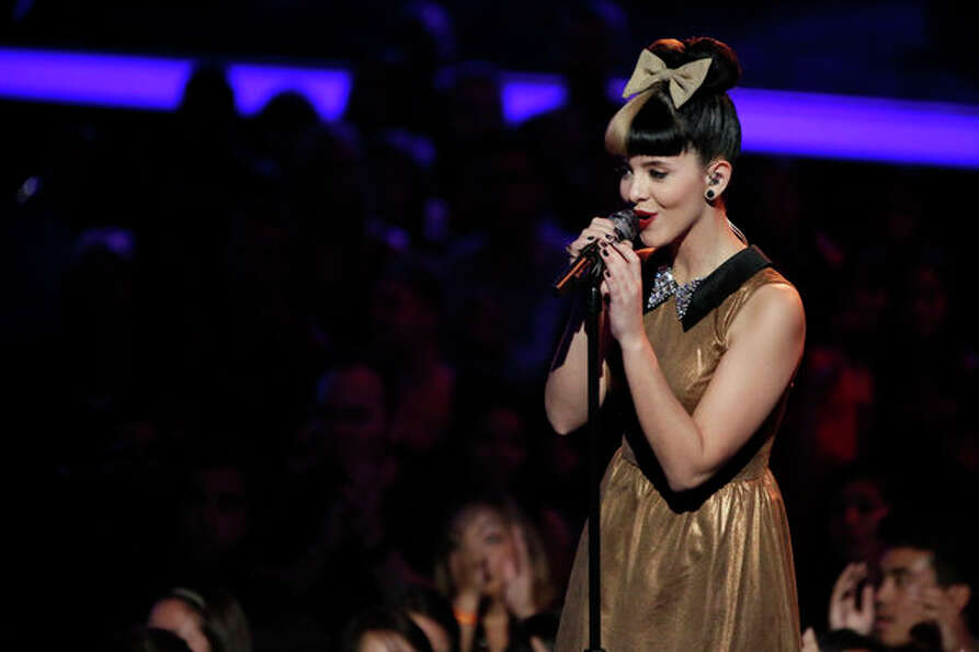 THE VOICE -- Live Show Episode 317A -- Pictured: Melanie Martinez -- (Photo by: Tyler Golden/NBC)
