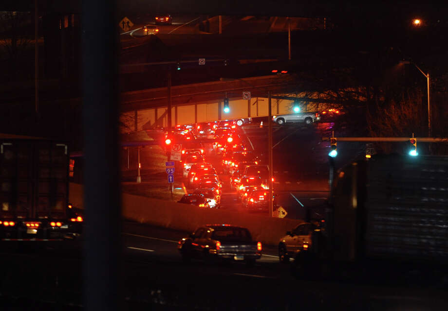 Traffic jams during the Patti Smith and Neil Young concert at the Webster Bank Arena in Bridgeport, Conn. on Tuesday December 4, 2012. Photo: Christian Abraham / Connecticut Post