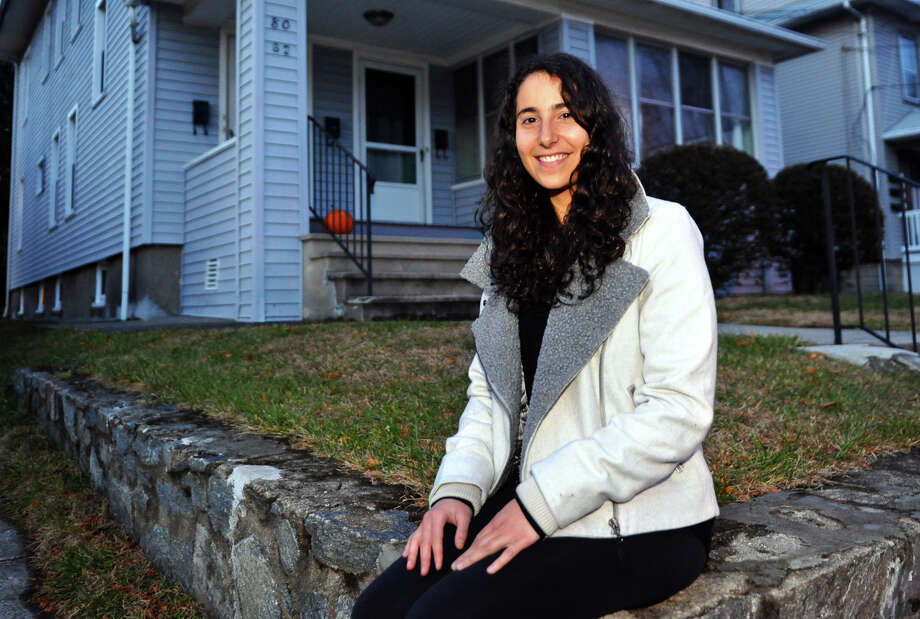 Nora Weiss, who found a black widow spider in grapes she purchased at Whole Foods, poses at her home on Woodland Avenue in Bridgeport, Conn. on Tuesday December 4, 2012. Photo: Christian Abraham / Connecticut Post