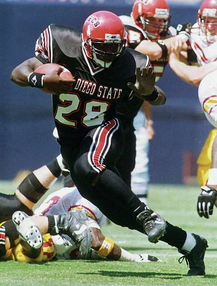 MARSHALL FAULK, 1991 School, position: San Diego State, RB Heisman finish: Ninth Heisman winner: Desmond Howard, Michigan WR Why he was considered: Faulk finished the season with 1,429 yards rushing, including a fresh-record 386 yards and seven TDs against Pacific. Why he didn't win: No one could strike a Heisman pose as well as Howard — just ask Ohio State, which watched Howard run away with the trophy. Photo: Associated Press