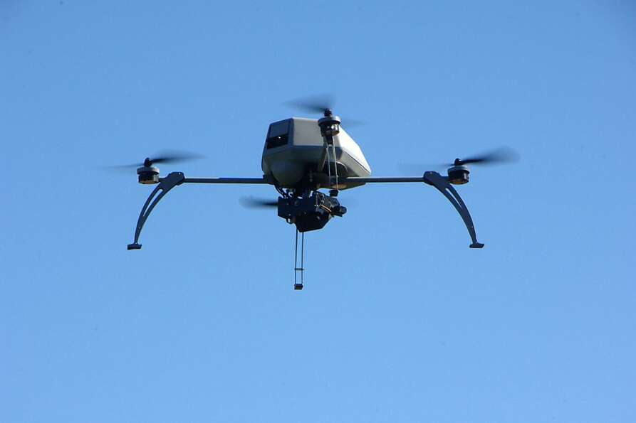 A remote-controlled aerial drone that the Alameda County Sheriffs Office hopes to use.