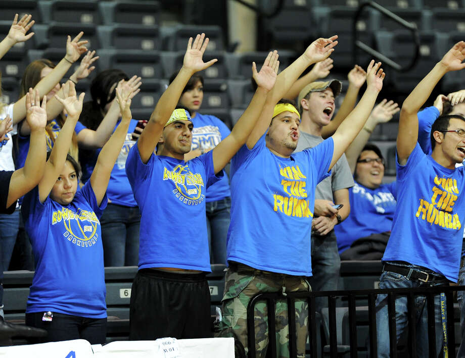 St. Mary's fans cheer during a Men's NCAA Division II basketball game between the Incarnate Word University Cardinals and the St. Mary's University Rattlers at Bill Greehey Arena, Tuesday, December 4, 2012. Photo: John Albright, For The Express-News / San Antonio Express-News