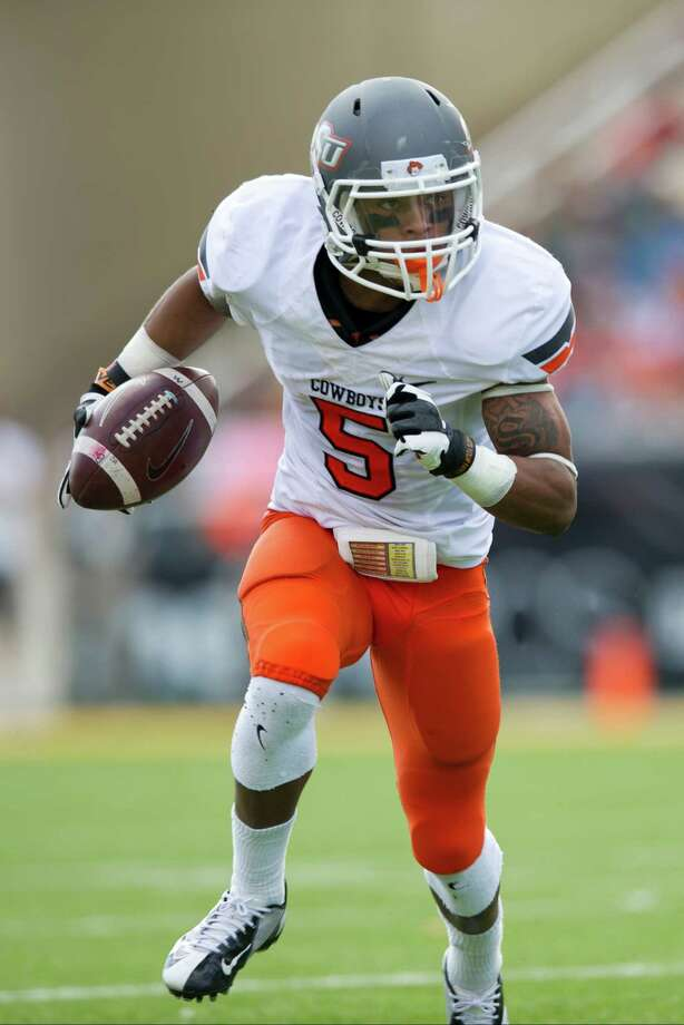 FIRST TEAM OFFENSE  WR: Josh Stewart, OSU, 5-10, 178, So., Denton (Guyer) Photo: Cooper Neill, Getty Images / 2012 Getty Images