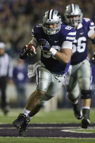FIRST TEAM OFFENSE  TE: Travis Tannahill, KSU, 6-3, 253, Sr., Overland Park, Kan. (Olathe East) Photo: Ed Zurga, Getty Images / 2012 Getty Images