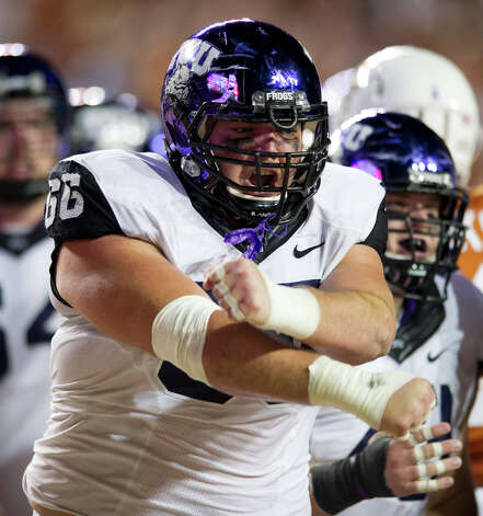SECOND TEAM OFFENSE  OL: Blaize Foltz, TCU, Sr. Photo: Cooper Neill, Getty Images / 2012 Getty Images
