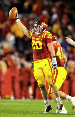 FIRST TEAM DEFENSE LB: Jake Knott, ISU, 6-3, 239, Sr., Waukee, Iowa Photo: Steve Pope, Associated Press