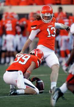 FIRST TEAM DEFENSE K and P: Quinn Sharp (13), OSU, 6-1, 205, Sr., Mansfield (Summit) Photo: Sue Ogrocki, Associated Press / AP