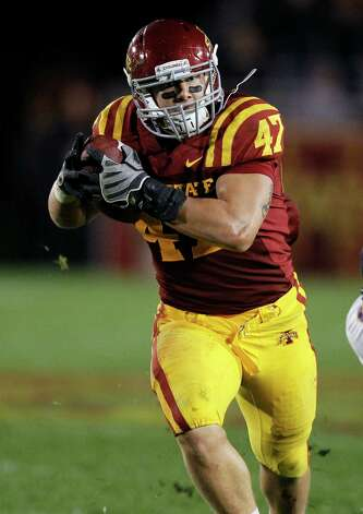 FIRST TEAM DEFENSE LB: A.J. Klein, ISU, 6-2, 244, Sr., Kimberley, Wis. Photo: Charlie Neibergall, Associated Press / AP
