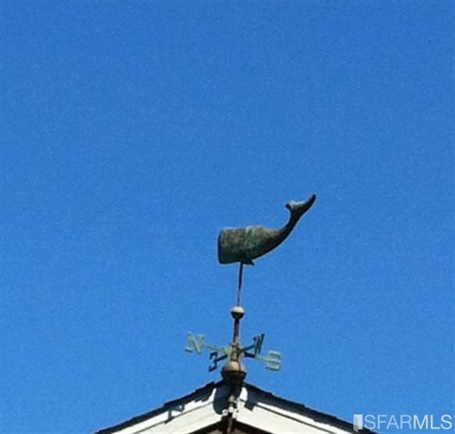 Obviously the home was a fixer, as a listing photo of a weathervane is pretty dire (www.41clipper.com)
