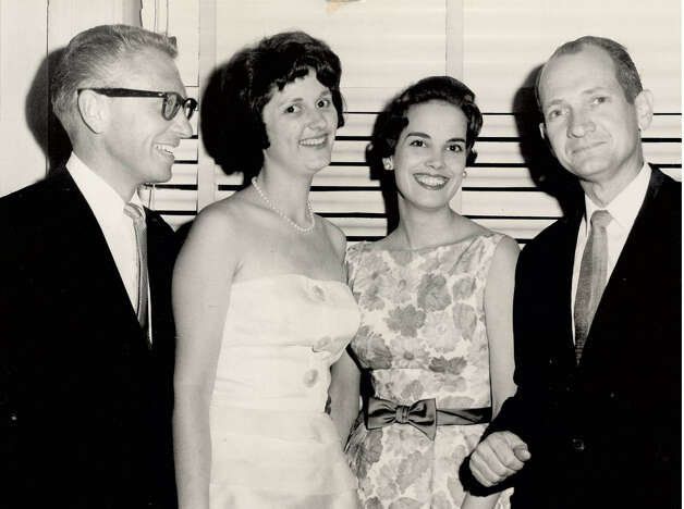 From left, Allen Ludden a Texas television star of 'College Bowl' and 'Password,' Lynda Bird Johnson, Charlotte Brooks and Jack Brooks, Photo taken during a dance in Washington D.C. Enterprise file photo