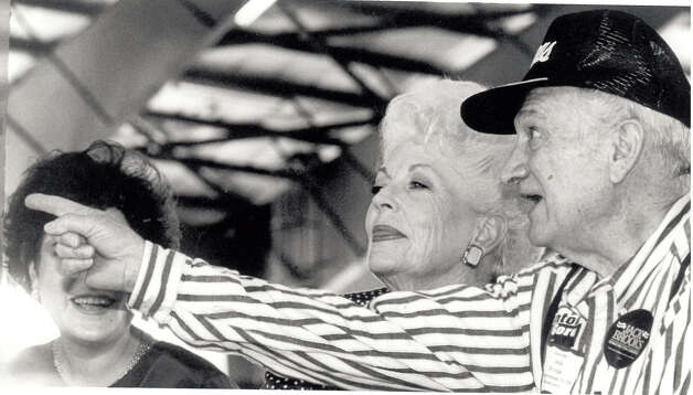 Jack Brooks and Governor Ann Richards at a Carl Parker's Labor Day Picnic in 1992. Enterprise file photo