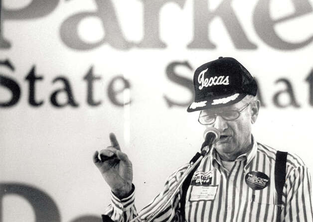 Jack Brooks speaks the Carl Parker Picnic in 1992. Enterprise file photo