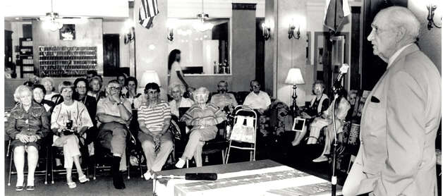 Jack Brooks speaks about healthcare to Beaumont residents at the Petroleum Hotel in 1994. Enterprise file photo