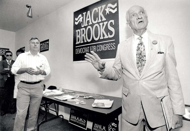 Jack Brooks makes comments during the opening of his campaign headquarters in 1994. Enterprise file photo