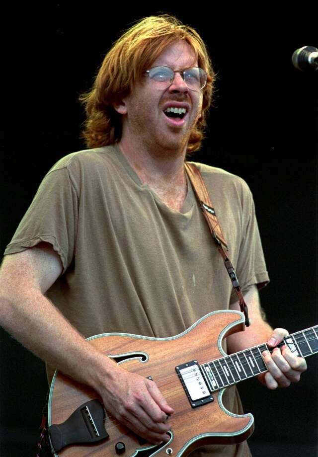 FILE--Trey Anastasio, lead vocalist for the rock group Phish, is shown in Limestone, Maine, in an Aug. 16, 1997 file photo.  A two-day traffic jam on Interstate 75 in Florida caused by thousands of people arriving for a concert by the rock band Phish ended Thursday, Dec. 30, 1999 about the time the performance was scheduled to begin at the Big Cypress Seminole Indian Reservation. (AP Photo/Robert F. Bukaty, File) (AP)