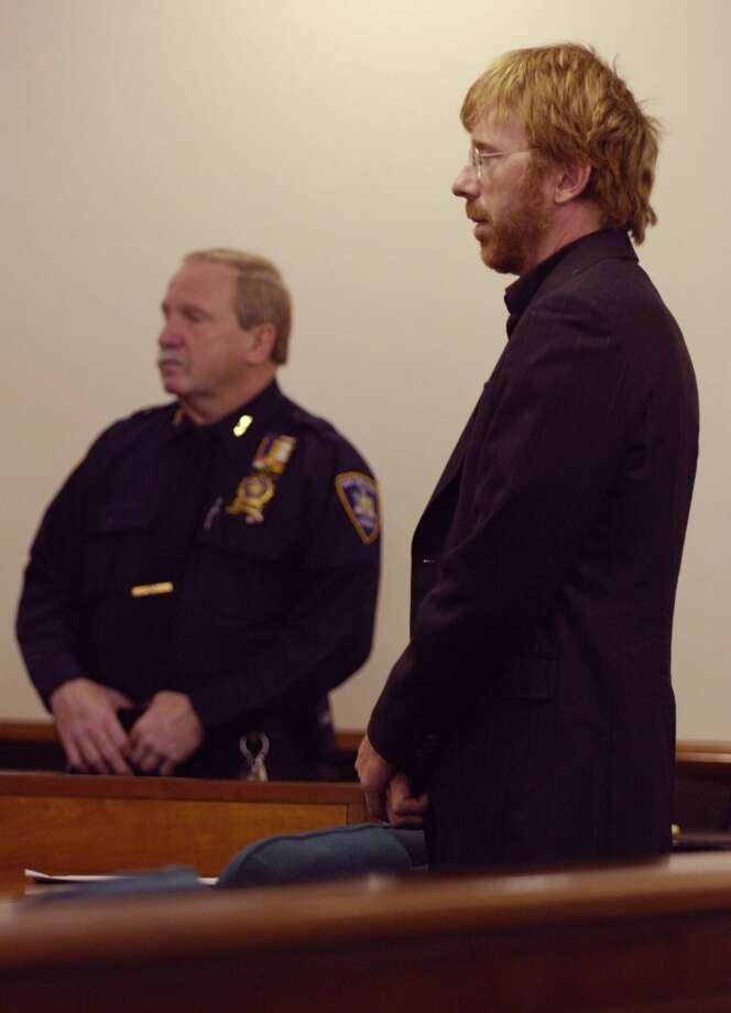 TIMES UNION STAFF PHOTO BY SKIP DICKSTEIN - Rock Star Trey Anastasio stands in New York State Supreme Court in the Washington County Courthouse in Fort Edward, New York this morning April 13, 2007, appearing on charges of Criminal Possession of a Controlled Substance.  He will have to attend Drug Court as part of his plea deal which will include 5 years of Probation. (DG)