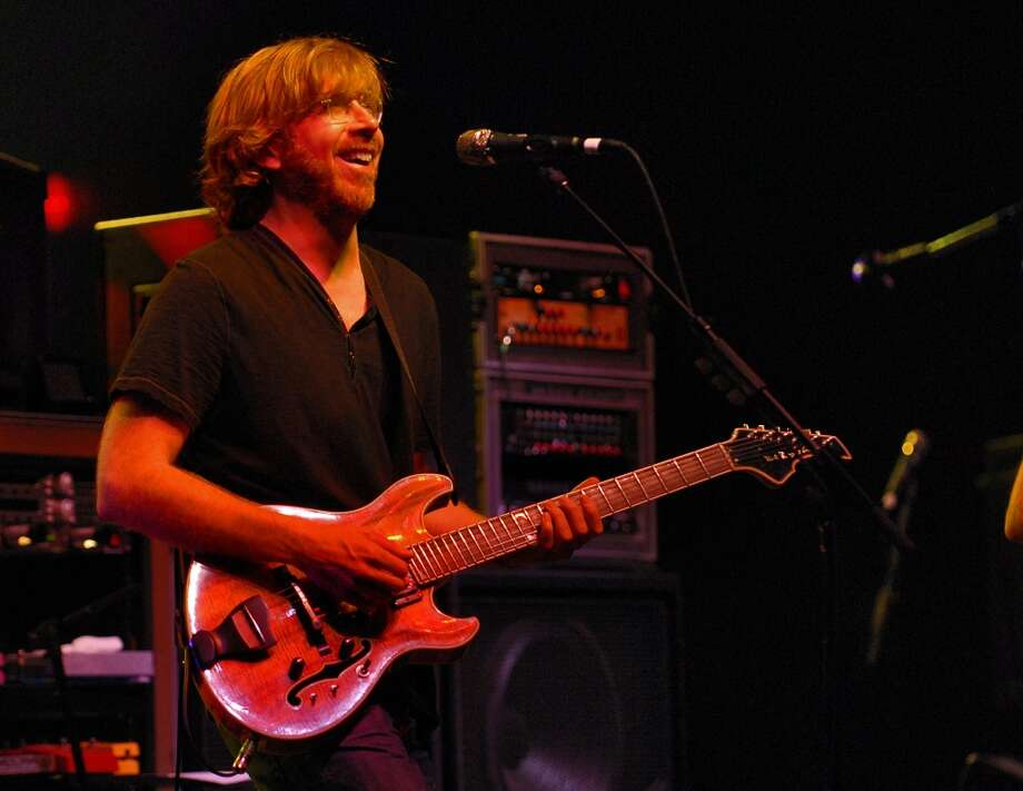Trey Anastasio of Phish plays a sold out concert at Saratoga Performing Arts Center in Saratoga Spa State Park  in Saratoga Springs, NY Sunday evening August 16, 2009. (Philip Kamrass  /  Times Union) (ALBANY TIMES UNION)