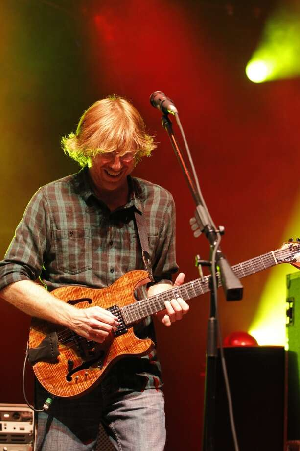 Trey Anastasio, lead vocalist and guitarist for the band Phish, performs at the Saratoga Performing Arts Center Friday night, July 6, 2012 in Saratoga Springs, N.Y. (Dan Little/Special to the Times Union) (The Times Union)