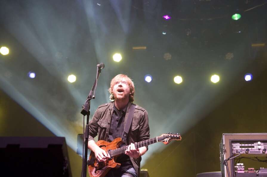 Phish front man Trey Anastasio performs during their benefit concert at the Champlain Valley Exposit