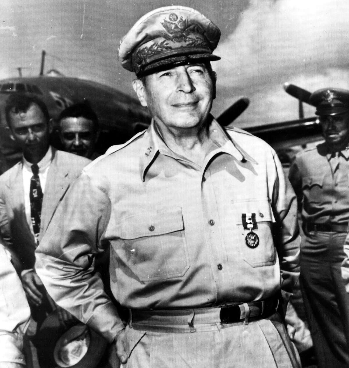 Douglas MacArthur - MacArthur was a graduate and valedictorian of the Texas Military Institute in San Antonio. He is one of only five men to ever rise to the rank of General of the Army. Receiving the Medal of Honor during the Philippines Campaign in World War II made him and his father the first father/son to win the military's highest honor.