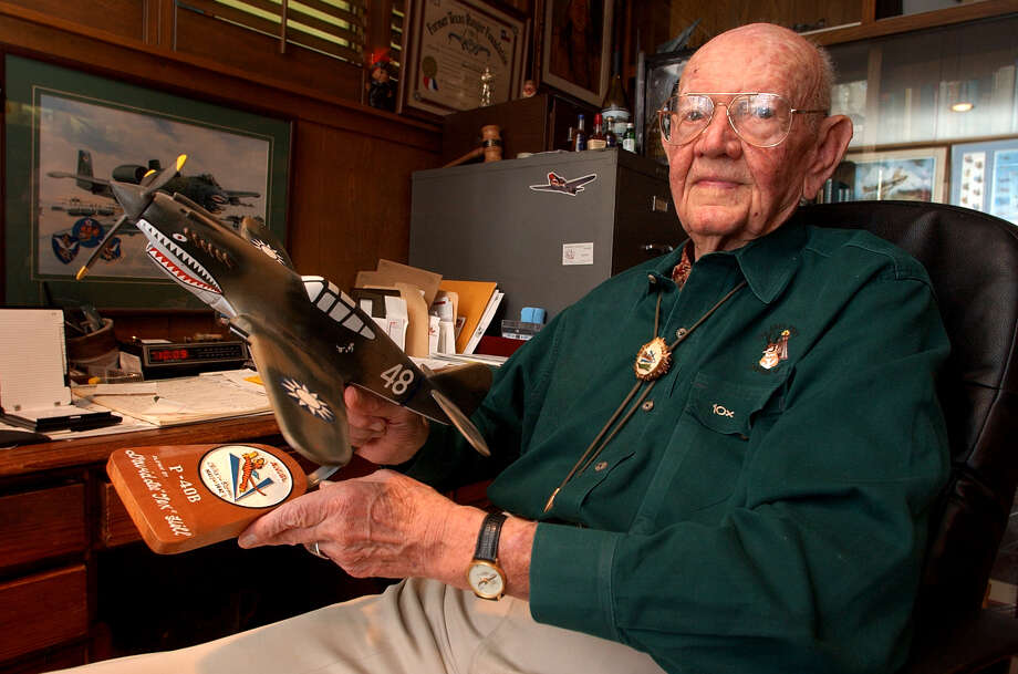 "David ""Tex"" Hill – Hill was a fighter ace and served in China in the famed Flying Tigers squadron before the U.S. entry into World War II. Hill died in San Antonio in 2007. Photo: BOB OWEN, File Photo / SAN ANTONIO EXPRESS-NEWS"