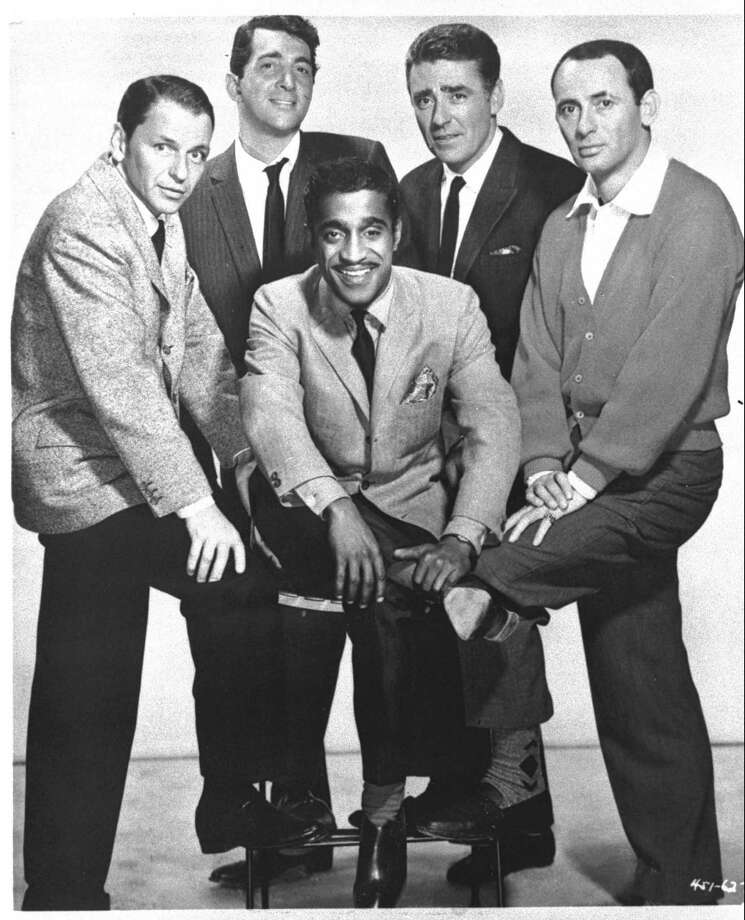 Joey Bishop – The famous comedian was stationed at Fort Sam Houston. Pictured from left to right: Frank Sinatra, Dean Martin, Sammy Davis Jr., Peter Lawford and Joey Bishop. Photo: File Photo / WARNER BROTHERS