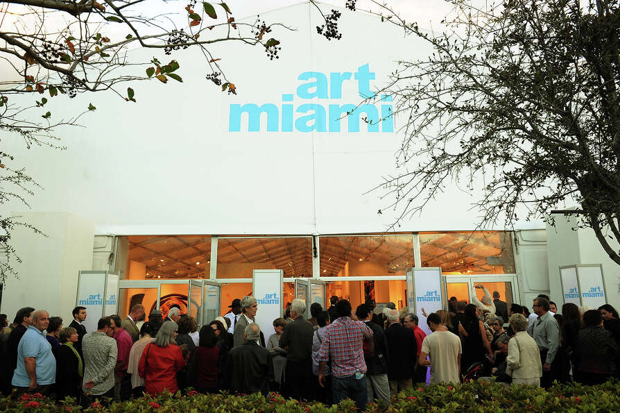 MIAMI, FL - DECEMBER 04:  A general view of atmosphere at the Art Miami + Context Art Miami VIP Prev