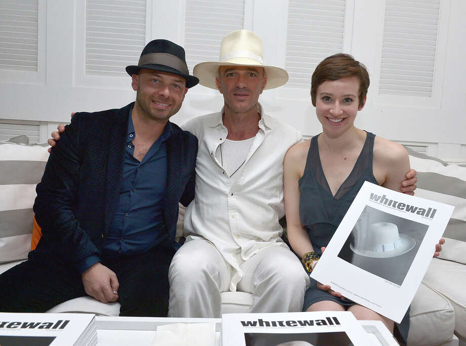 MIAMI BEACH, FL - DECEMBER 04: Whitewall CEO Michael Klug, Alan Faena and Editor in Chief Katy Donoghue attend the Whitewall Magazine Party At Delano Beach Club at Delano Beach Club on December 4, 2012 in Miami Beach, Florida. Photo: Rodrigo Varela, Getty Images For Whitewall Magaz / 2012 Getty Images