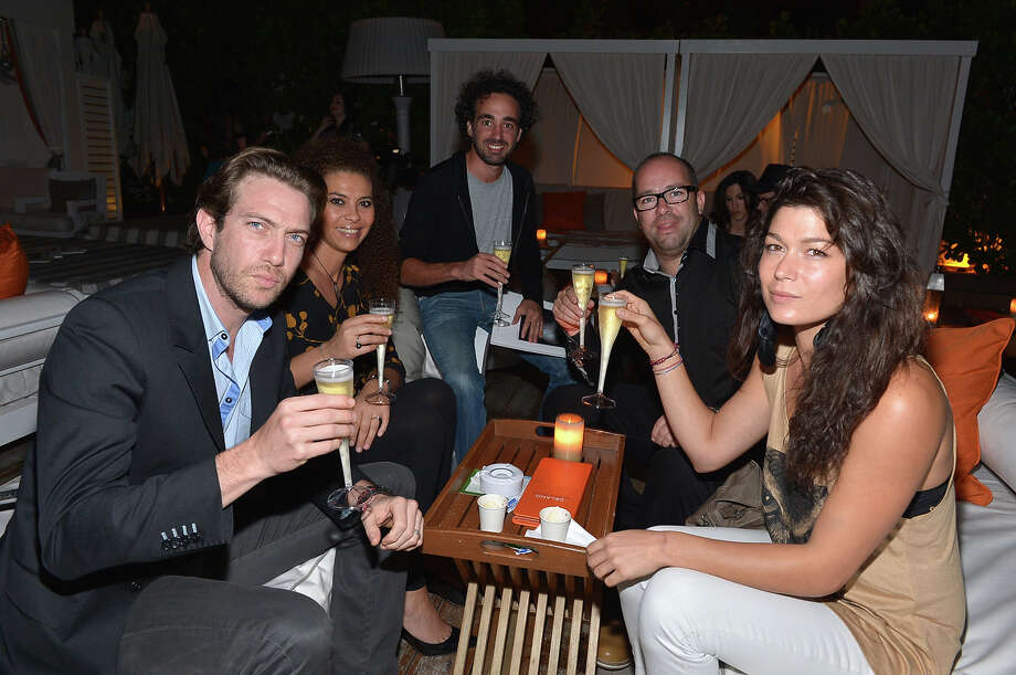 MIAMI BEACH, FL - DECEMBER 04: David, Sherazade, Rikael, Sebastien and Hayet attend the Whitewall Magazine Party At Delano Beach Club at Delano Beach Club on December 4, 2012 in Miami Beach, Florida. Photo: Rodrigo Varela, Getty Images For Whitewall Magaz / 2012 Getty Images