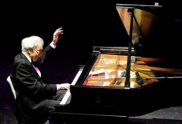 Legendary pianist Dave Brubeck plays with his Quartet at the Palace Theater in April 2010. Brubeck was presented with the first Stamford Center for the Arts Legacy Award. Brubeck died Wednesday, Dec. 5, 2012 at Norwalk Hospital in Norwalk, Conn., said his longtime manager-producer-conductor Russell Gloyd. Photo: Keelin Daly, Keelin Daly/file Photo / Stamford Advocate