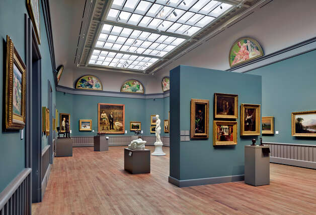 A view of the American paintings and sculpture galleries at the Yale University Art Gallery Photo: Contributed Photo