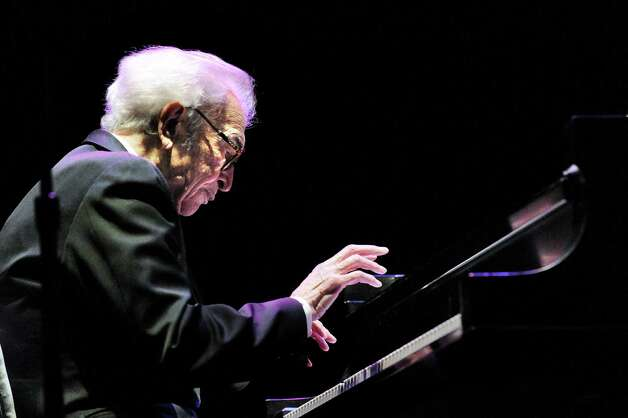Legendary pianist Dave Brubeck plays with his Quartet at the Palace Theater in Stamford, Conn. on April 29, 2010. Brubeck died Wednesday, Dec. 5, 2012 at Norwalk Hospital in Norwalk, Conn., said his longtime manager-producer-conductor Russell Gloyd. Photo: Keelin Daly, Keelin Daly/file Photo / Stamford Advocate