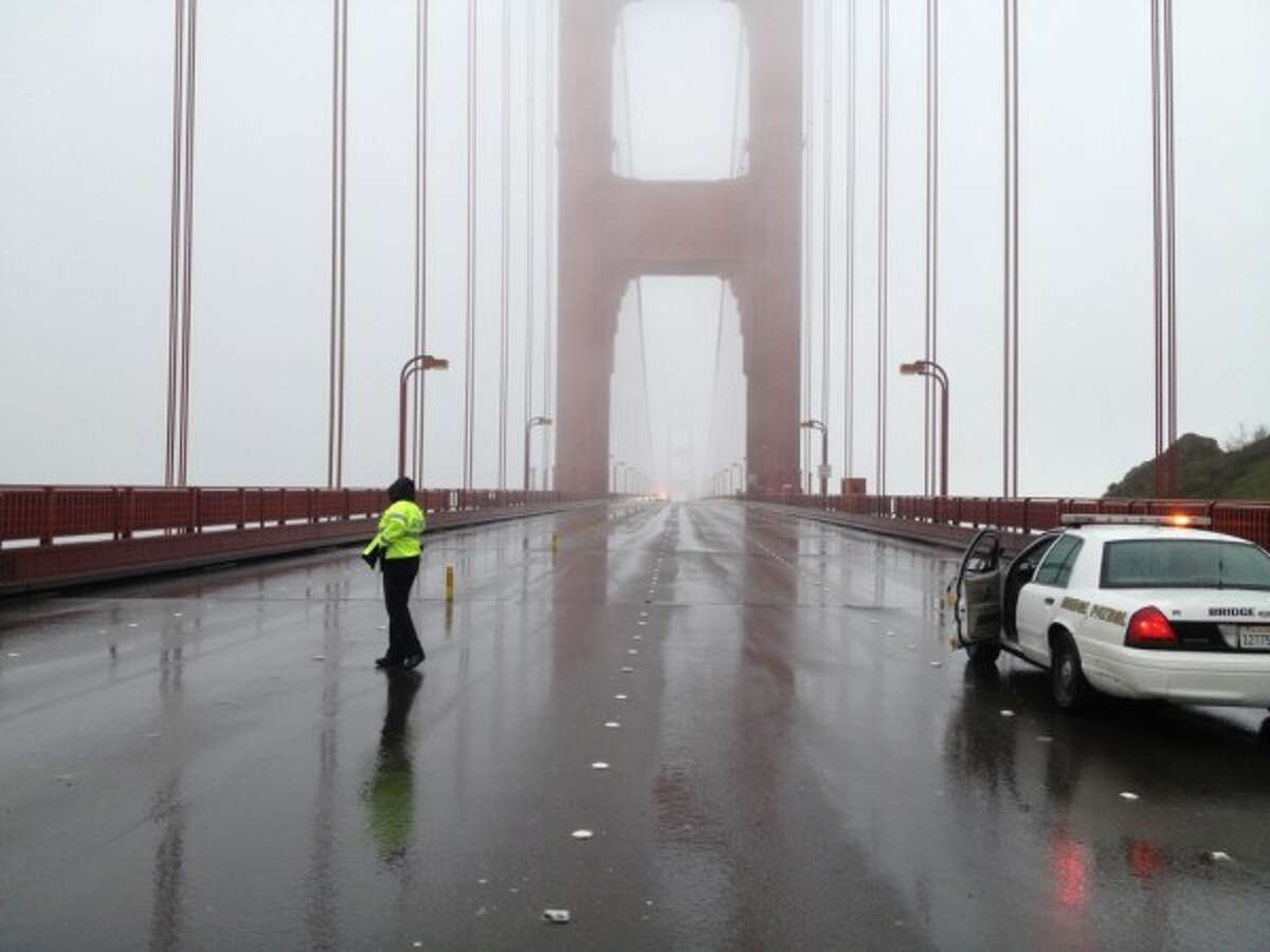 The Golden Gate Bridge was shut down for almost an hour Wednesday morning. (Daniel Robinson/Courtesy)