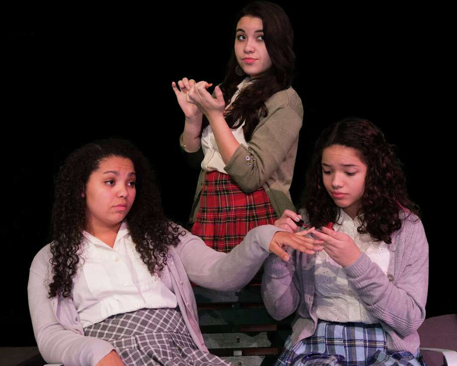 India McKinney is Crystal, Alexis Rivera is Ronnette and Gabrielle Straight is Chiffon in Schenectady Light Opera Company?s youth theatre production of ?Little Shop of Horrors.? (Shawn Morgan Photography)