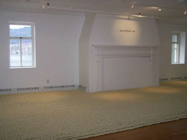 A view of the installation of ramen noodles by Sang Wook Lee at the Lake George Arts Project's Courthouse Gallery, through Dec. 14, 2012. (Courtesy Lake George Arts Project)