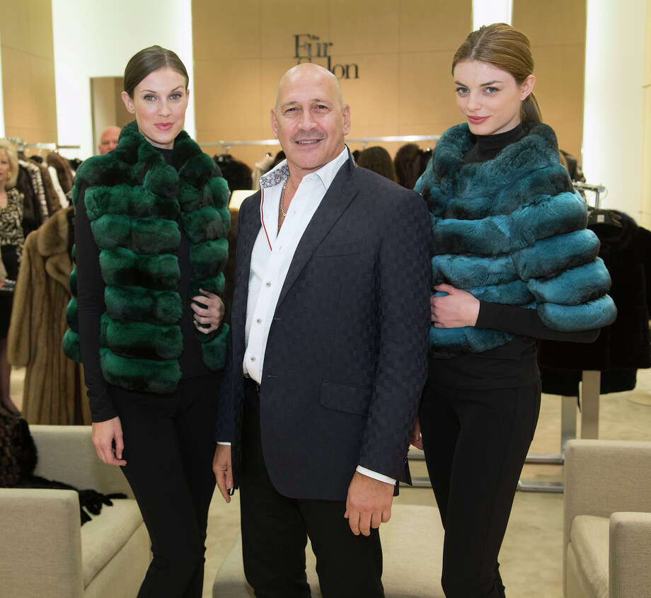Designer Carmen Marc Valvo presents his furs during a luncheon at Saks Fifth Avenue Fur Salon at North Star Mall. Photo: J. Michael Short, For The Express-News / THE SAN ANTONIO EXPRESS-NEWS