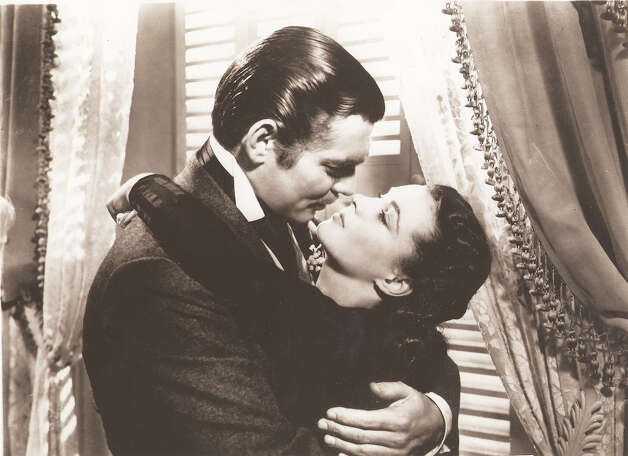 Clark Gable (left) and Vivian Leigh in a scene from the film 'Gone with the Wind.' Photo: COURTESY PHOTO / CBS