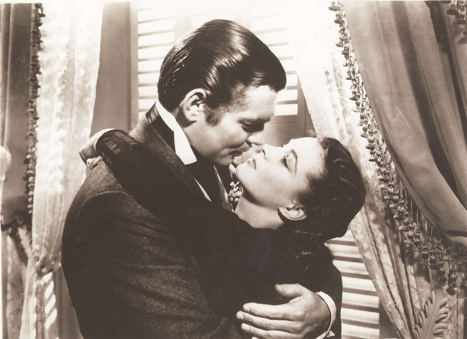 Clark Gable (left) and Vivian Leigh in a scene from the film 'Gone with the Wind.' Photo: Metro-Goldwyn-Mayer / CBS