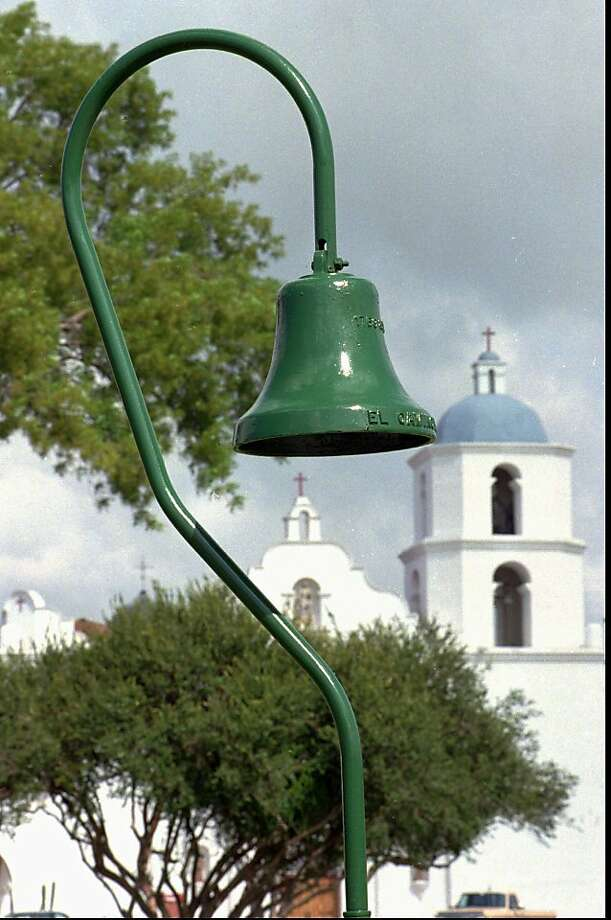 The bell leads the way to Mission San Luis Rey in Oceanside along historic El Camino Real. Photo: Howard Lipin, Associated Press