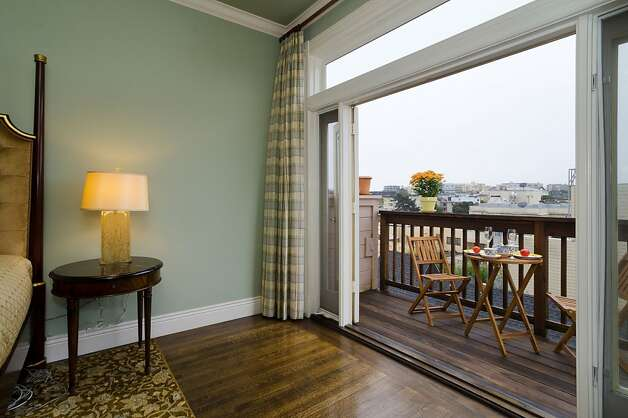 French doors open to the condo's deck. Photo: Reflex Imaging