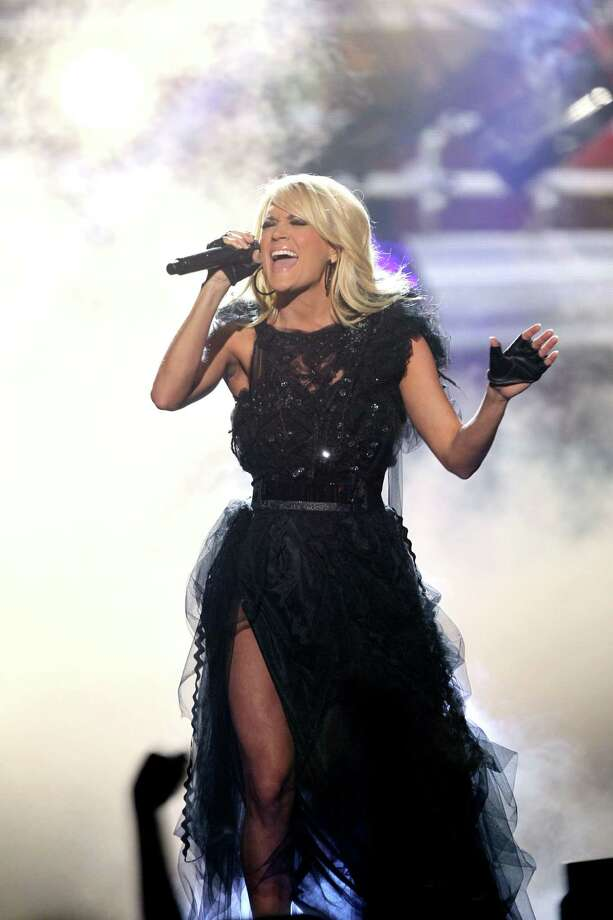 "Carrie Underwood performs ""Two Black Cadillacs"" at the 40th Anniversary American Music Awards on Sunday, Nov. 18, 2012, in Los Angeles. (Photo by Matt Sayles/Invision/AP) Photo: Matt Sayles / Invision"