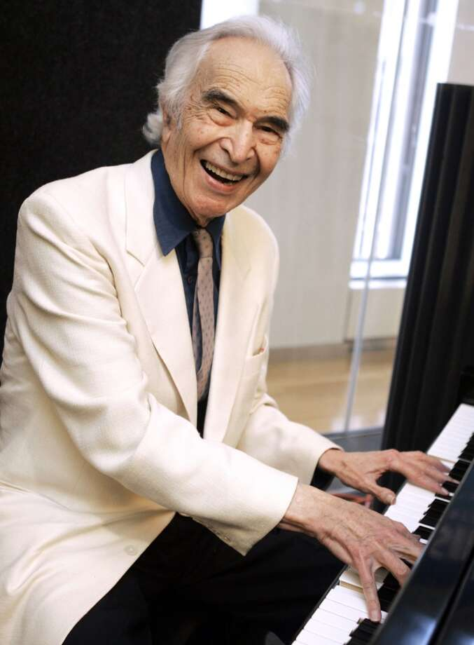 FILE - In this July 12, 2007 file photo, jazz legend Dave Brubeck rehearses at Sirius Satellite Radio studios in New York. (Associated Press)