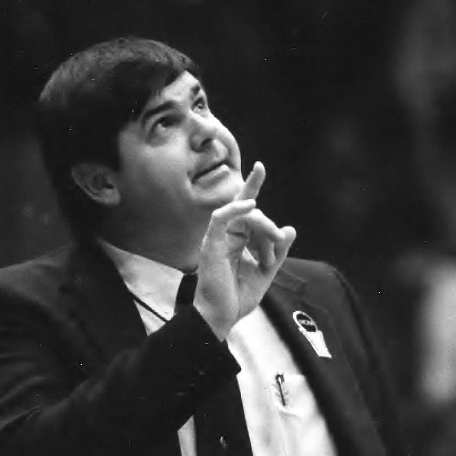 Sacred Heart University head basketball coach Dave Bike coached the Pioneers to the 1986 Division II national title. Photo: Contributed Photo